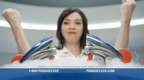 geico commercial actress flo progressive name your price tool tv spot one woman