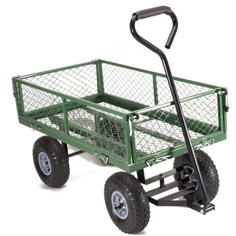 chariot remorque de jardin en m 233 tal capacit 233 150 kg