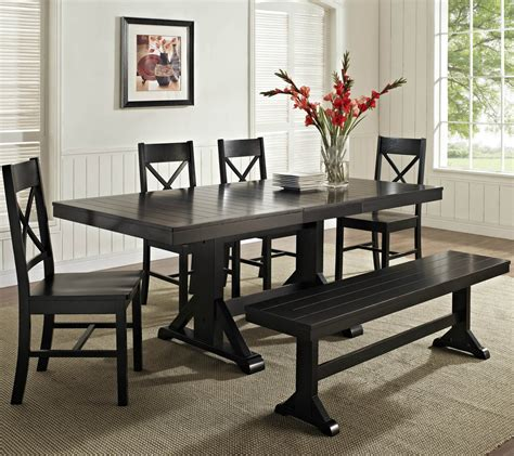 black dining room set with bench dining room cool dining table and bench kitchen benches