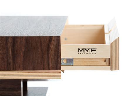 plywood bedside table hive dismountable plywood bedside table on behance