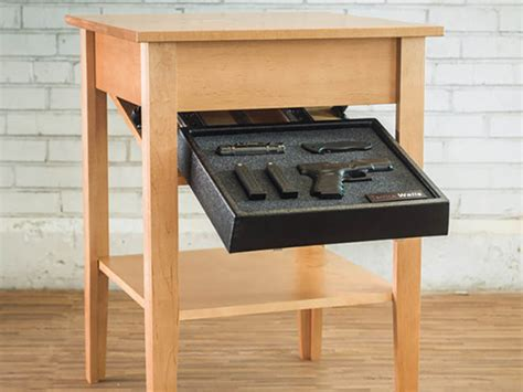 gun end table hide your guns in plain sight with tacticalwalls