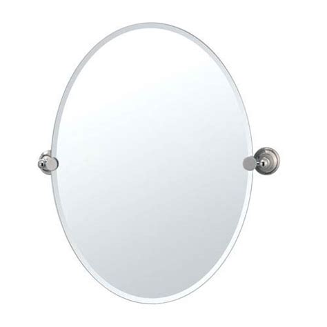 tilting bathroom mirror polished nickel laurel ave polished nickel tilting oval mirror gatco wall