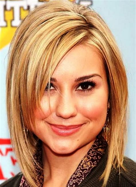 hairstyles for round faces medium length hair cuts medium haircuts for round faces
