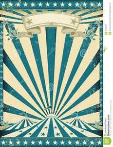 affiche bleue grunge de cirque illustration de vecteur