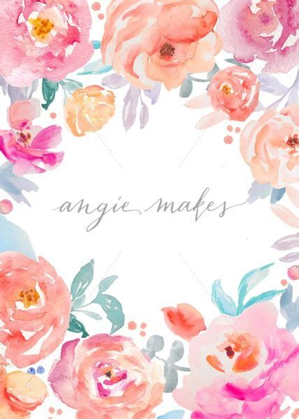 watercolor templates this adorable watercolor flower stationery template is