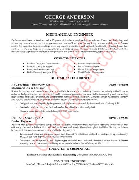 mechanical engineer resume example electrical professional