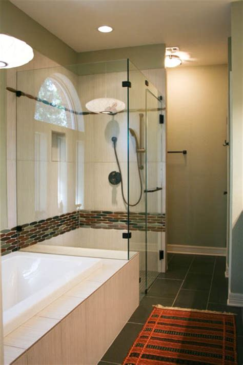 Modern Bathroom Earth Tones Chic Master Bath With Mid Century Flair