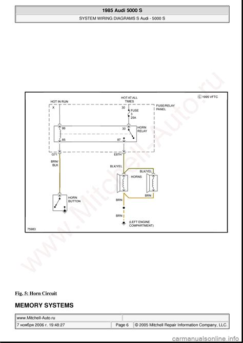 security system 1985 audi 5000s user handbook audi 5000s 1985 c2 system wiring diagram