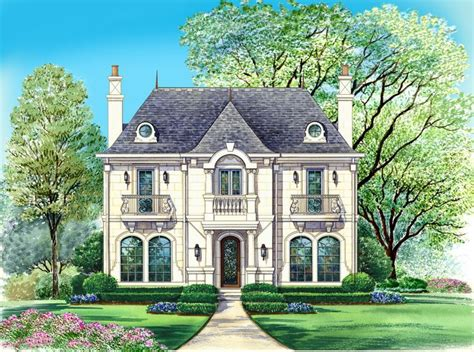 French Home Plans | chateau home style laurette chateau timber frame home plan
