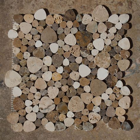 posa mosaico bagno petali mosaico con tessere in travertino pietre di