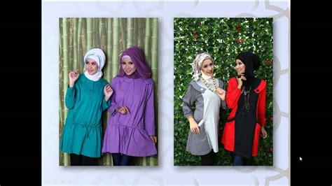 Atasan Baju Wanita Tunik Muslim Cila Asimetris Model Busana Muslim Atasan Yang Modis Nibinebu