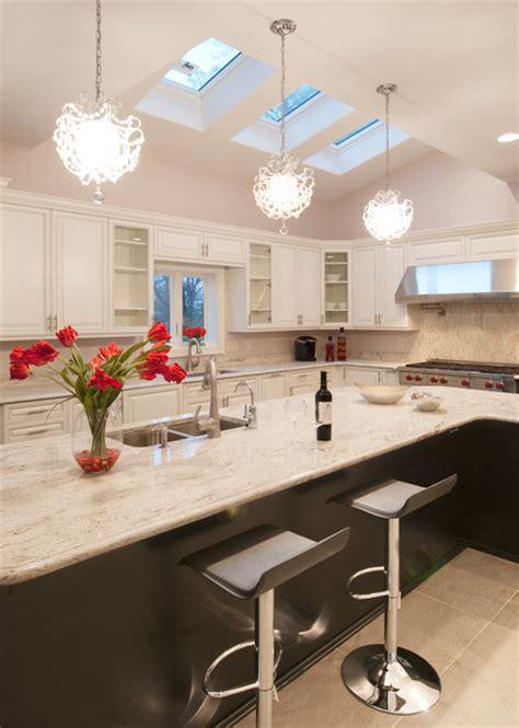 White Glamorous Modern Kitchen   Modern   Kitchen