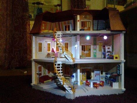 playmobil puppenhaus gross mit einrichtung und licht sehr