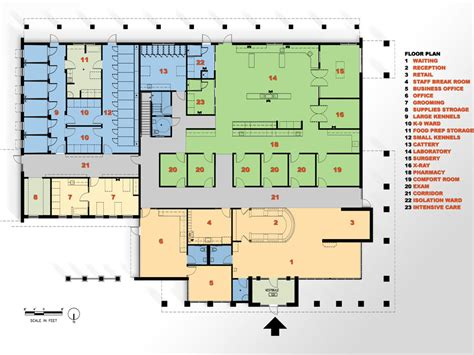layout hospital veterinary floor plan yukon hills animal hospital