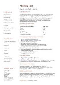 Academic Resume Sles by Retail Sales Assistant Cv