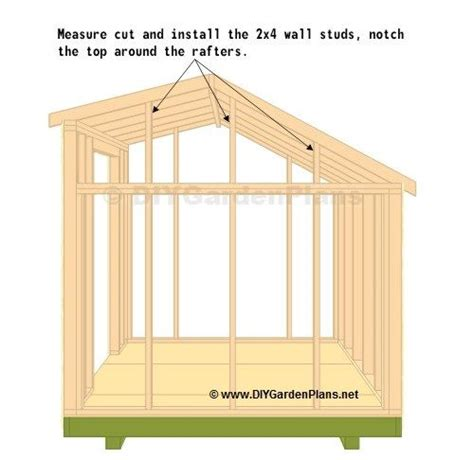 top wall studs shed   shed plans  shed