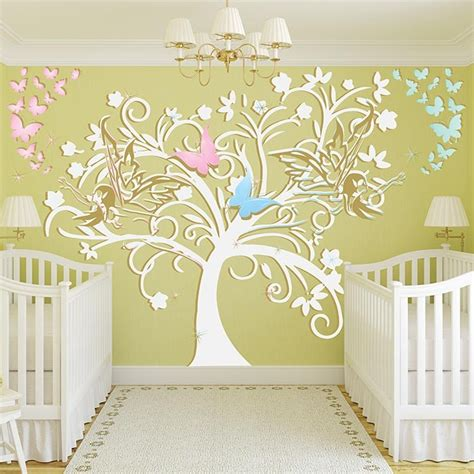 Stickers Bebe Chambre by Stickers Chambre B 233 B 233 Arbre Et F 233 Es Un Sticker Mural