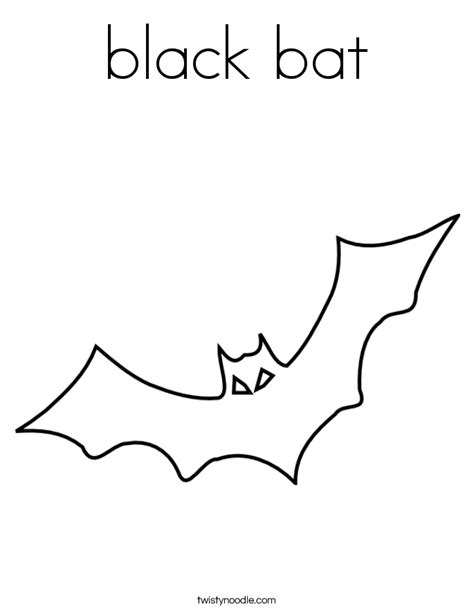 Black Bat Coloring Page Twisty Noodle Black Coloring Pages
