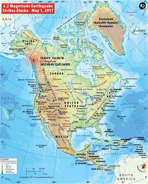 earthquake mp alaska earthquake map area affected by earthquake in alaska