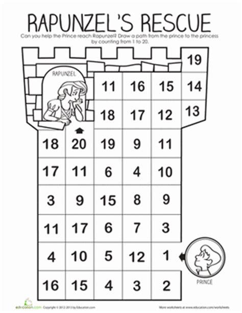 printable number maze rapunzel s number maze maze worksheets and kindergarten