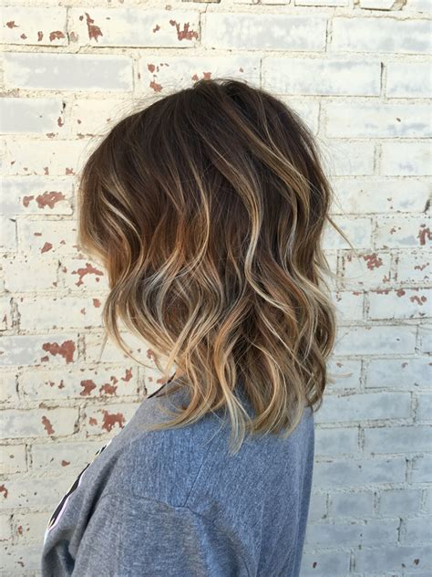 short hairstyles light brown with blond highlights balayage brown hair brown balayage hair short hair