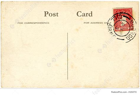 Vintage Wars Card Template by A Vintage Blank Postcard With A St Picture