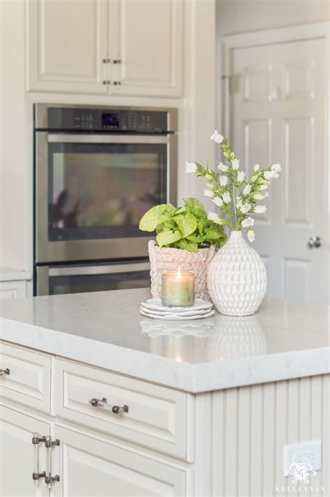 decorating a kitchen island kitchen island decor 6 easy styling tips kelley nan