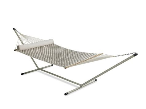 Wide Hammock With Stand Large Soft Weave Quilted Hammock With 15 Ft Steel Stand