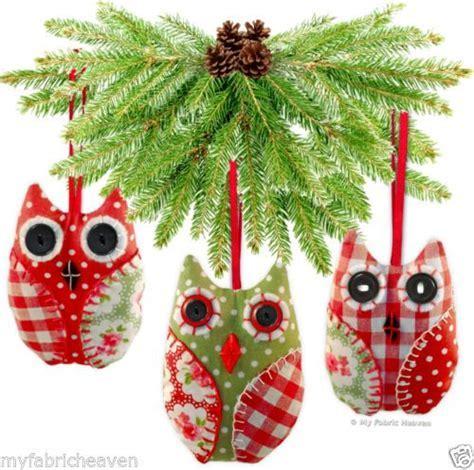 OWL Handmade Fabric Christmas Tree Decoration / Wedding