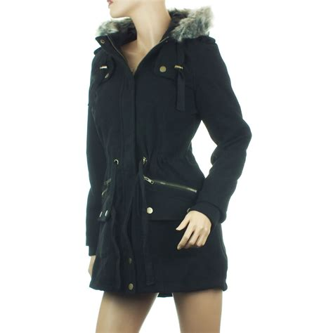 Parka Jaket Xl parka coat womens winter jacket faux fur
