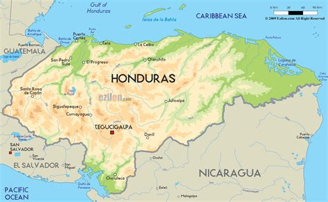 honduras on a world map honduras physical map car interior design