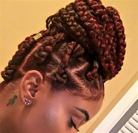 pictures of colored hair box braid buns the 25 best ideas about box braids bun on pinterest