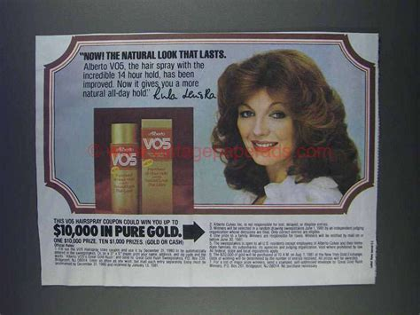 alberto vo5 hair spray with rula lenska commercial 1979 1980 alberto vo5 hair spray ad rula lenska