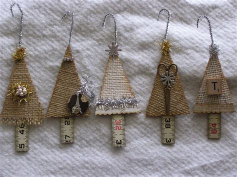 rag rescue vintage fabric christmas tree hangers