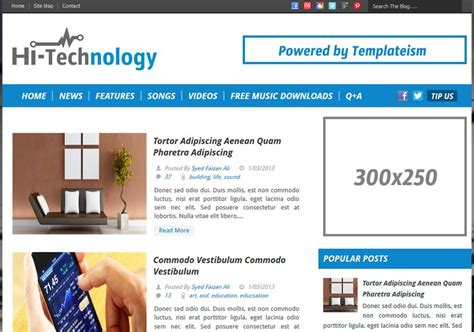 science templates for blogger hi tech breadcrumb blogger template free graphics