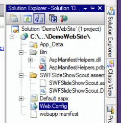 tutorial on web config in asp net tutorial how to use swf slideshow scout in asp net 2 00