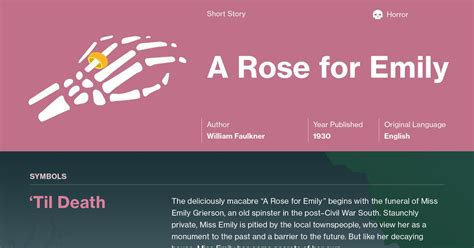 themes a rose for emily a rose for emily 1930 by william faulkner summary best