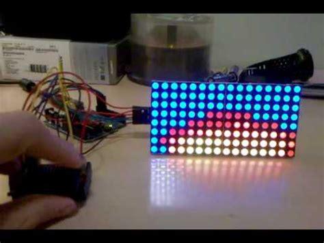 rgb led matrix fire effect  version youtube