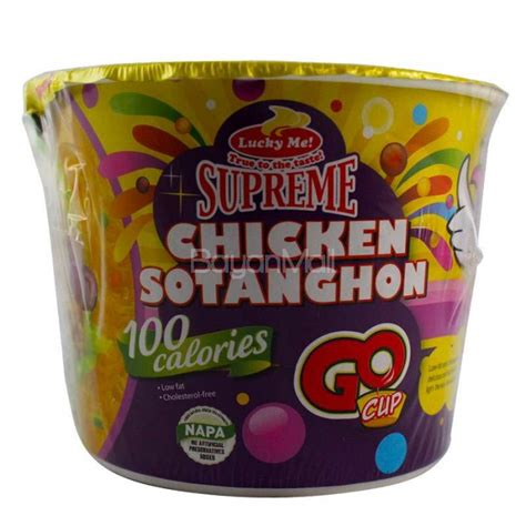 Cup Noodles Goes Refillable by Lucky Me Supreme Chicken Sotanghon 100 Calories Go Cup