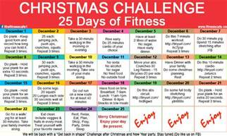 25 day fitness challenge staying healthy during the holidays fit