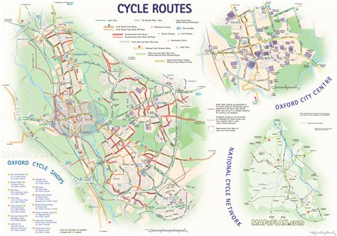 printable route planner uk oxford map great cycle bike routes fun things to do