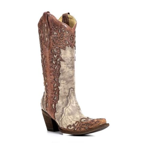 corral womans boots corral sand cognac laser overlay cowboy boots a2665
