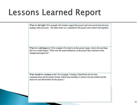 lessons learned powerpoint template lessons learned powerpoint template ppt project out and