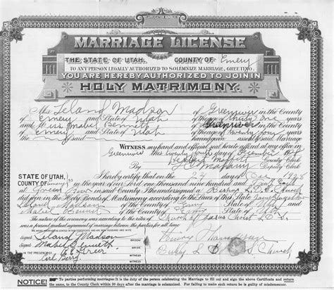 Marriage License Records Idaho Marriage