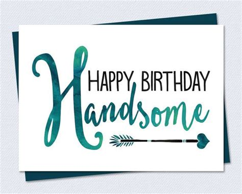 Printable Happy Birthday Cards For Husband | birthday card happy birthday handsome printable card