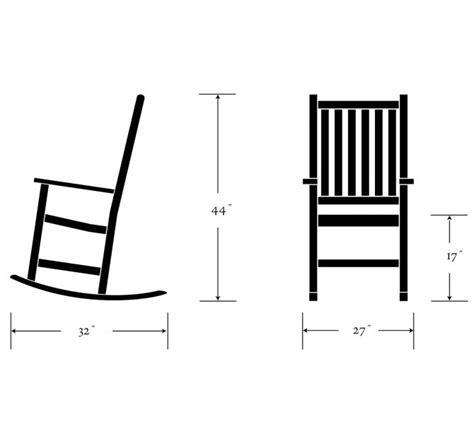Rocking Chair Dimensions by Franklin Rocking Chair Shorea Oxford Garden