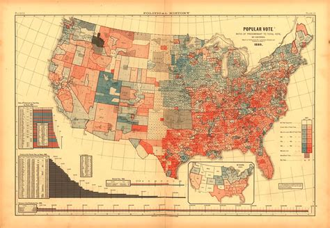 state pattern history vintage election maps show history of voting