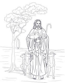 good shepherd catholic coloring page catholic