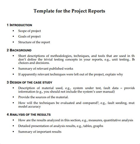 it project report template project report exle model pdf