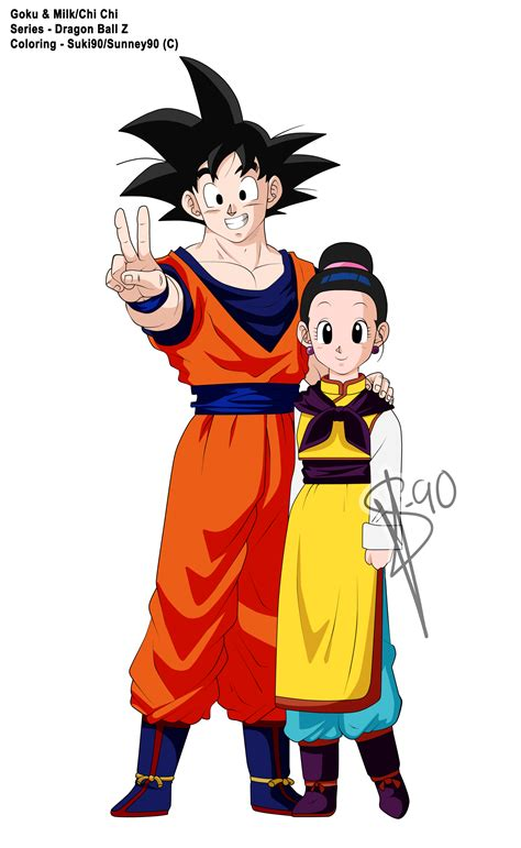 imagenes de goku adolescente dragon ball z goku and milk coloring by sunney90 on